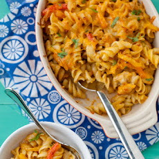 Chicken Fajita Mac and Cheese