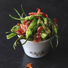 Padrón Peppers with Serrano Ham