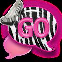 GO SMS - Zebra Stilettos SMS icon