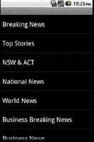 Screenshot of Australian News