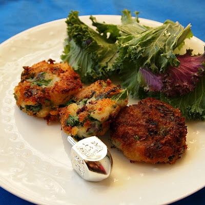 Mashed Potato and Kale Latkes