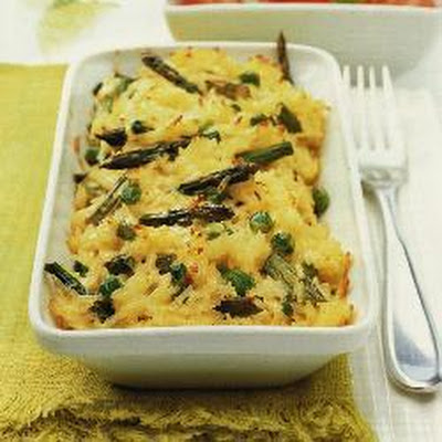 Cheesy Rice With Asparagus
