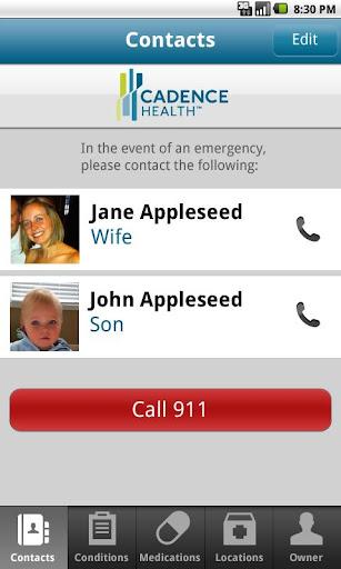 【免費健康App】Cadence Health ICE-APP點子