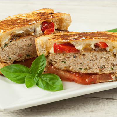 Sausage and Pepper Patty Melts