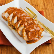 Slow Cooker Recipe for Pork Sirloin Roast with Spicy Peanut Sauce
