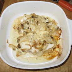 Halibut Smothered in Vidalia Onions