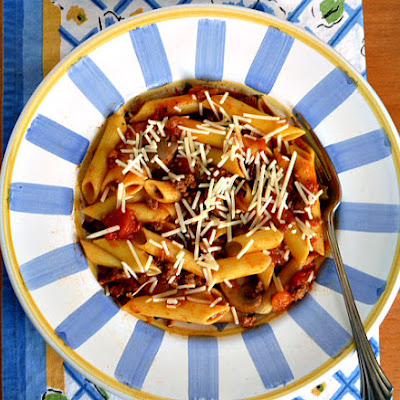 TurkeyBolognese with  Vegetables and Gluten-Free Pasta