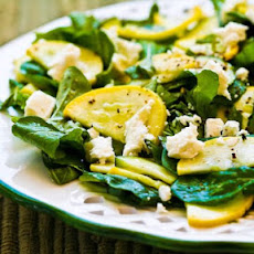 Raw Summer Squash Salad with Arugula, Feta, and Herbs