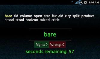 Screenshot of Swift Typing Test