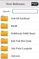 Screenshot of Hindi Tamil Telugu Songs