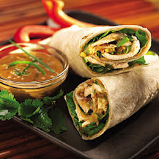 Thai Peanut Butter Chicken Wraps