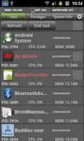 Screenshot of System Monitor