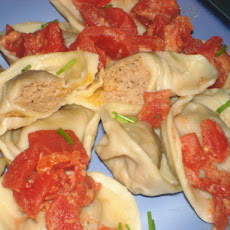 Homemade Ravioli with Tomato Sauce