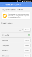 Screenshot of GO SMS Pro Slovak language