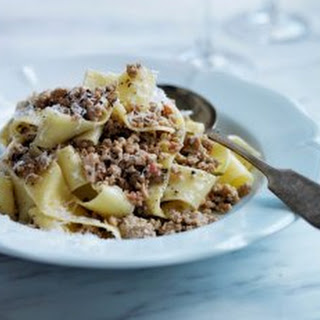 Andrew Carmellini's Pappardelle With White Bolognese