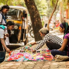 A Father by Ankush Kasera - People Street & Candids ( school, girl, street, sale, bangle )