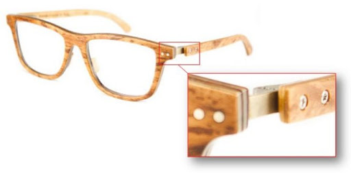 wooden glasses detail