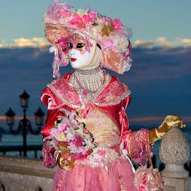 Venetian mask by Bojan Porenta - People Musicians & Entertainers ( venezia, italia, carneval, carnevale, venice, mask, maschera veneziana, italy, venetian )