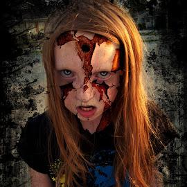 BRAINS!!!! by Elizabeth Burton - Digital Art People ( hunger, scary, zombie, texture, dark, bullet hole, evil, decay, wicked, halloween, brains,  )