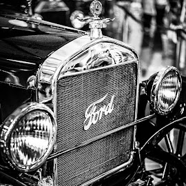FORD by Faizal Maulana - Transportation Automobiles ( stock, old car, classic car, black and white, ford )