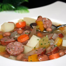 Bean Soup With Sausage and More - Southwest Flavors - Nutritious