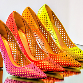 Colorful Stilettos by Giancarlo Bisone - Artistic Objects Clothing & Accessories ( shoes, mirror, reflection, color, women )