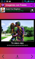 Screenshot of Imagenes con Frases Romanticas