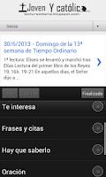 Screenshot of Lecturas y Evangelio