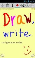 Screenshot of apMemo Lite - Graphic Notepad