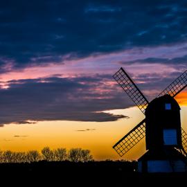 Vista by Babar Swaleheen - Artistic Objects Industrial Objects ( wind, d800e, blue hour, sunset, nikon, windmill, golden hour )