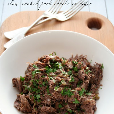 Slow-cooked Pork Cheeks in Cider