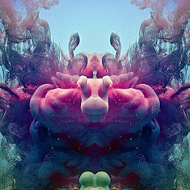 Lust by Johnny Gomez - Abstract Patterns ( random, free flowing, paint, accidental, conceptual )