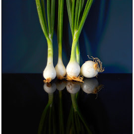 Spring Onions by Prasanta Das - Food & Drink Fruits & Vegetables ( composition, spring onions )