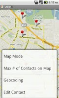 Screenshot of Contact Map