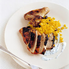 Cinnamon Broiled Chicken with Raita