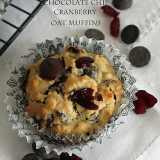 Chocolate Chip Cranberry Oat Muffins