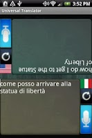 Screenshot of Universal Translator