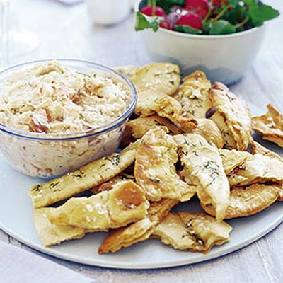 Smoked Salmon & Bean Dip With Crispy Pittas