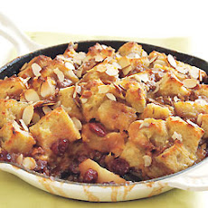 Apple and Dried Cherry Custard Bread Pudding