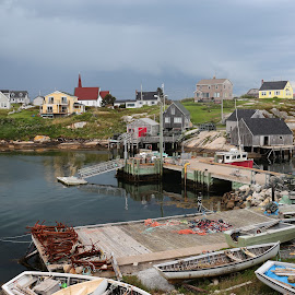 FISHING VILLAGE by Marty Cutler - Landscapes Travel ( village, travel location, boats, sea, fishing )