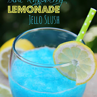 Blue Raspberry Lemonade Jello Slush