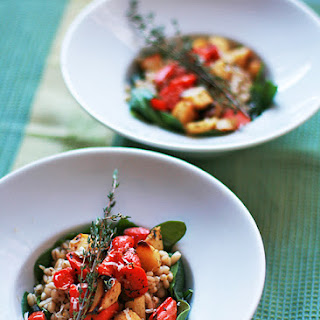 Barley Risotto with Roasted Root Vegetables and Spinach