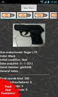 Screenshot of Gun Tracker