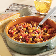 Black Bean, Corn & Turkey Chili