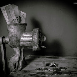 Devaluation  by Ali Naqvi - Novices Only Objects & Still Life ( concept, black and white, money, still, conceptual )