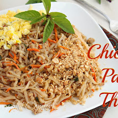 Chicken Pad Thai with Basil