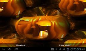 Screenshot of Halloween Pumpkins LWP
