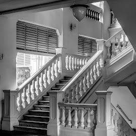 Raffles Hotel by Vibeke Friis - Buildings & Architecture Office Buildings & Hotels ( railing, raffles, balustrade, staircase,  )