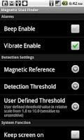 Screenshot of Magnetic Stud Finder