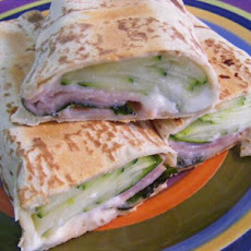 Ricotta, Basil & Ham Wrap (21 Day Wonder Diet: Day 5)
